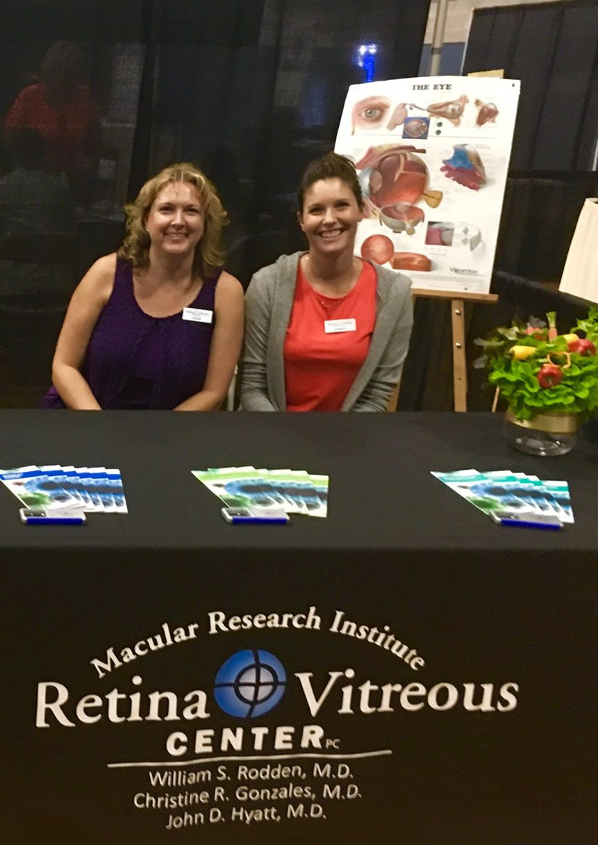 Retina & Vitreous Center staff at Senior Resource Fair in Grants Pass