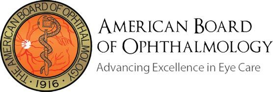 certified by American Board of Opthalmology